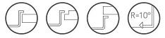 Caressi symbolen spoelbak