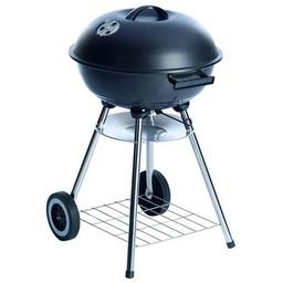 Verrijdbare stalen barbecue met deksel