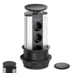 Evoline Powerport 3ST stopcontact zwart OUTLET