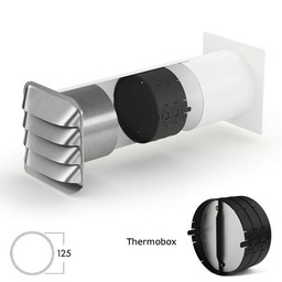 Muurdoorvoer E Jal Col® flow Ø125mm incl.Thermobox Terugslagklep