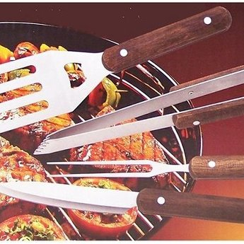 Barbecue bestekset 4-delig in tas