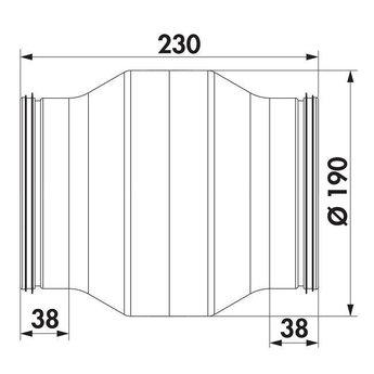 Afzuigkap Condens waterafscheider 150mm  Compair Steel flow