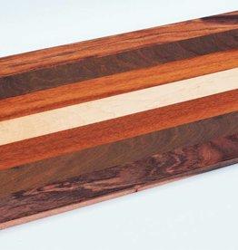 Luxe broodplank van Amerikaans esdoorn, afzelia, ipé en tijgerhout