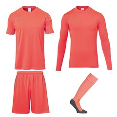 UHLSPORT SCORE GOALKEEPER SET FLUO RED JUNIOR
