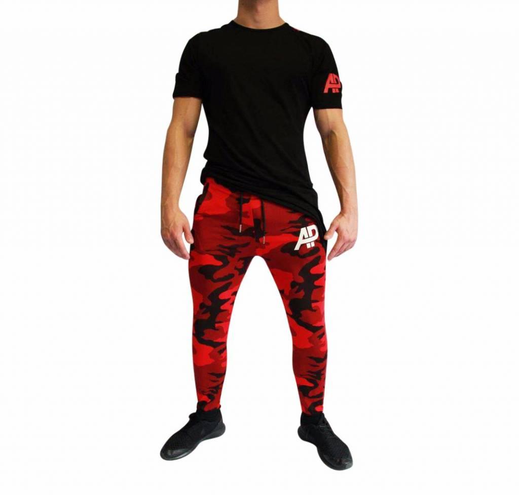 ApolloProtocol AP Camo Jogger Red + Hades Designer Shirt Set