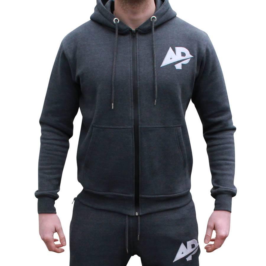 ApolloProtocol AP Fleece vest - Coal grijs