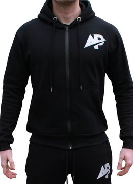 ApolloProtocol AP Fleece vest zwart