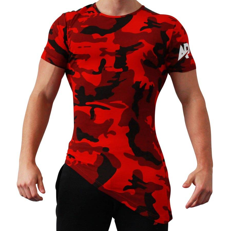 ApolloProtocol AP Camo T-shirt - rood
