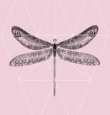 Lé Papiers de Ninon Poster A3 roze vlinder
