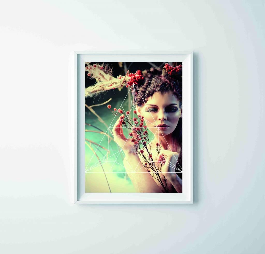 Lé Papiers de Ninon Poster A3 vrouw en grafische tekening
