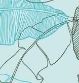 Lé Papiers de Ninon Behangstrook bladeren blauw Kanoa