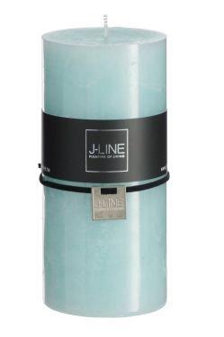 J-Line Cilinderkaars Aqua J-Line