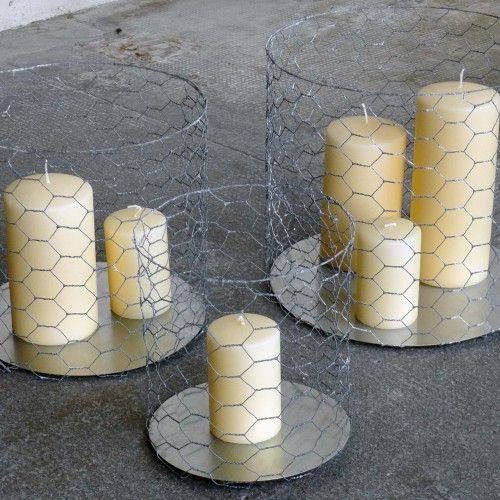 Un Esprit en Plus Set van 3 metalen kaarsenhouders van Un Esprit en Plus