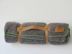 Midipy Plaid Grijs & groen 120x180cm