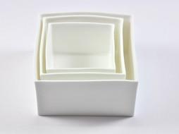 K-Design! Aperitief schalen set 3 in 1 China in Box Wit