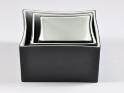K-Design! Aperitief schalen set 3 in 1 China in Box antraciet