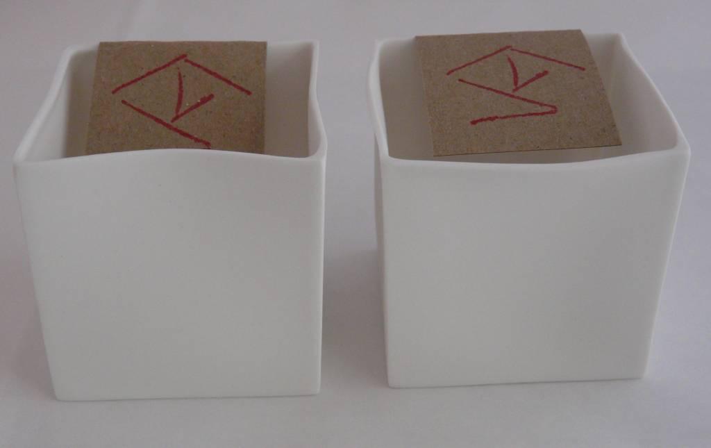 K-Design! Q-Light theelicht wit, set van 2
