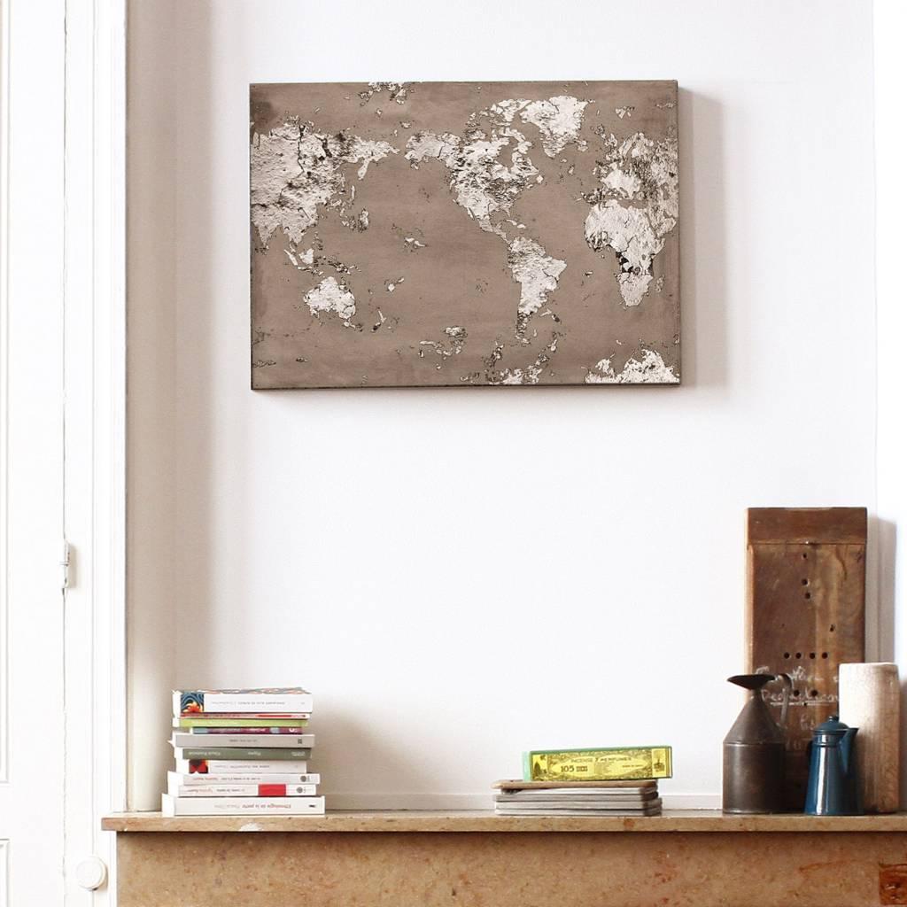 Lyon Béton Print beton wereldkaart