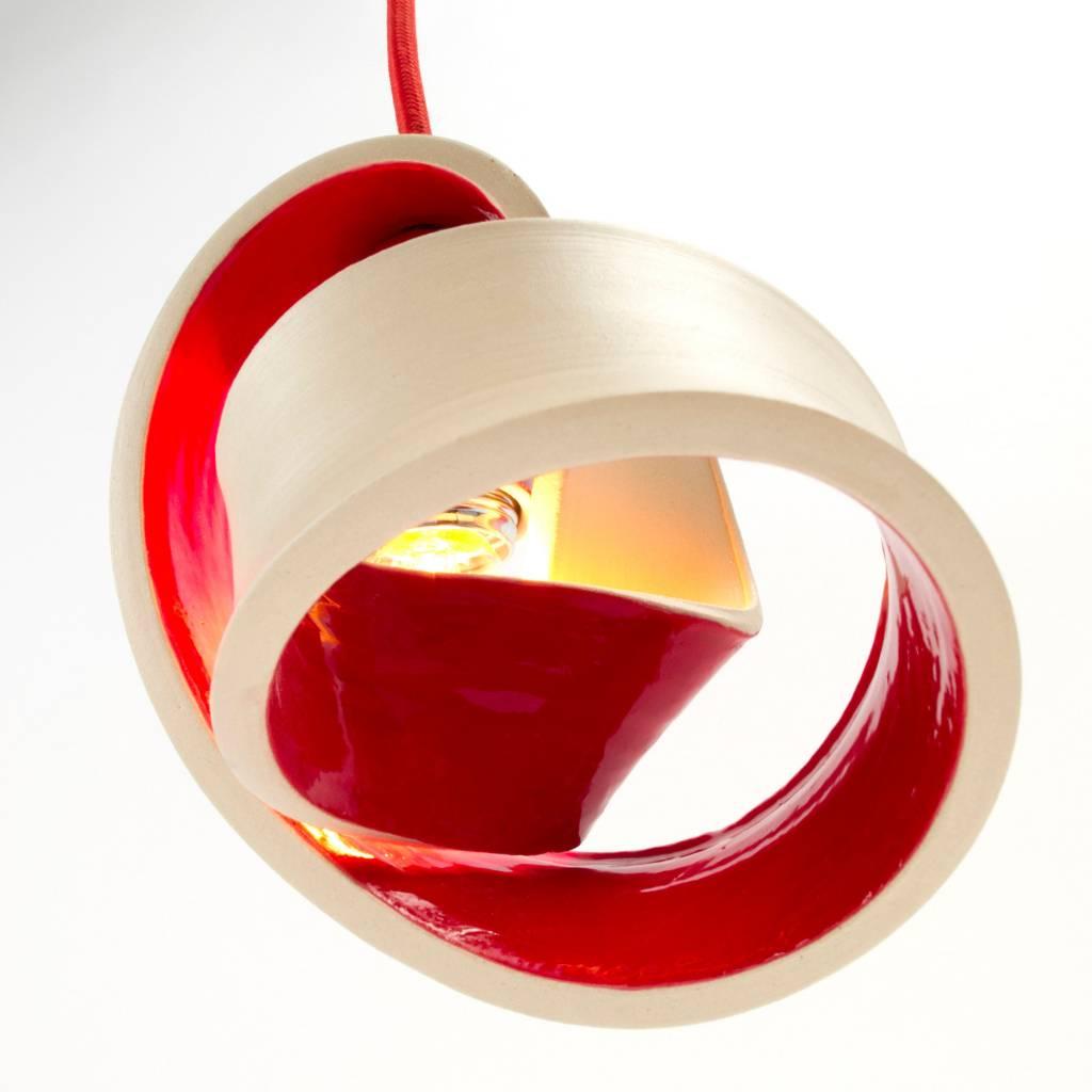 Atelier Oker Handgemaakte tafellamp rood