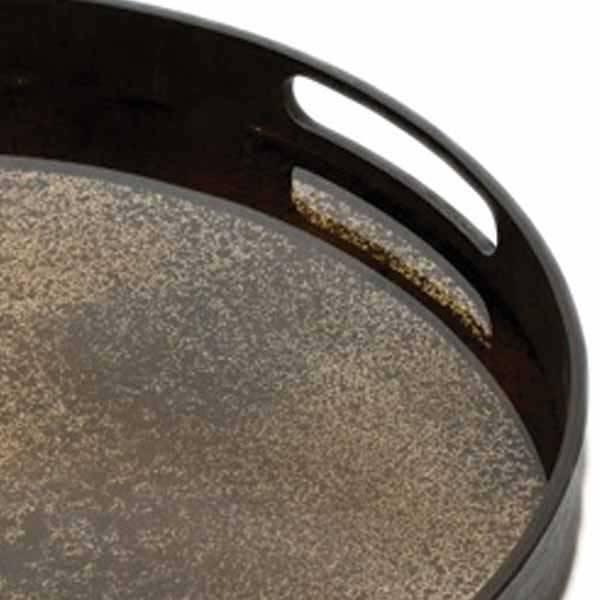 Notre monde Handmade tray heavily aged bronze
