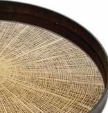 Notre monde Large tray Bronze slice Mirror