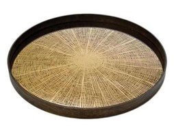 Notre monde Large tray Bronze slice Mirror