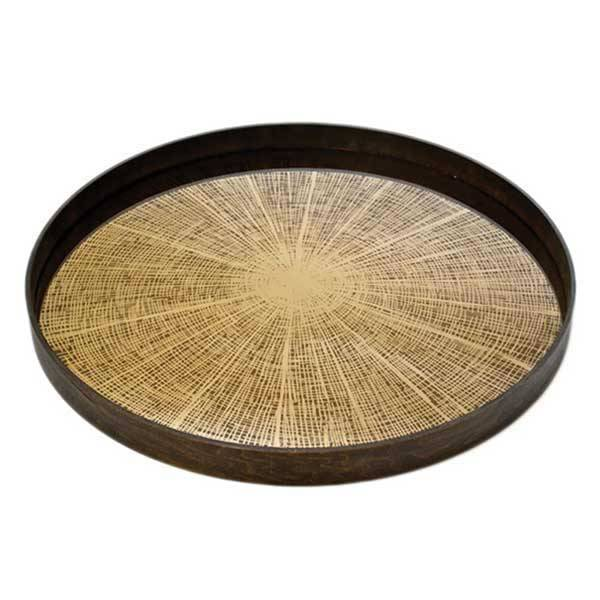 groot dienblad bronze slice mirror van notre monde la
