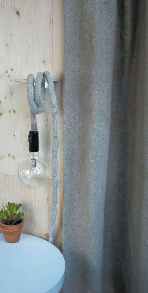Un Esprit en Plus Flexible lamp fabric cable Linen woven