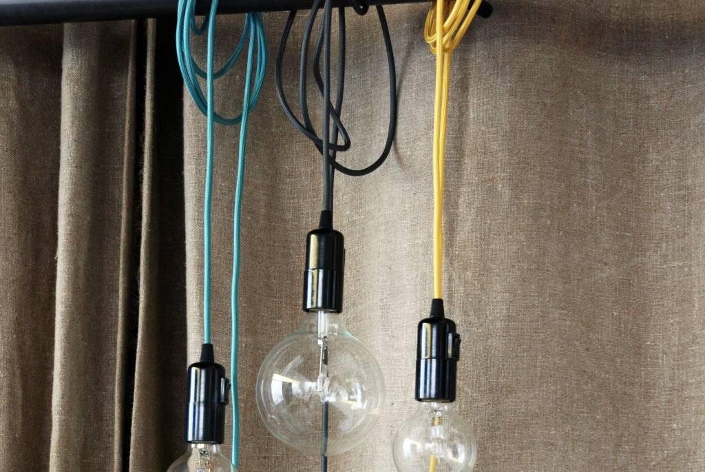 Un Esprit en Plus Snoerlamp turquoise
