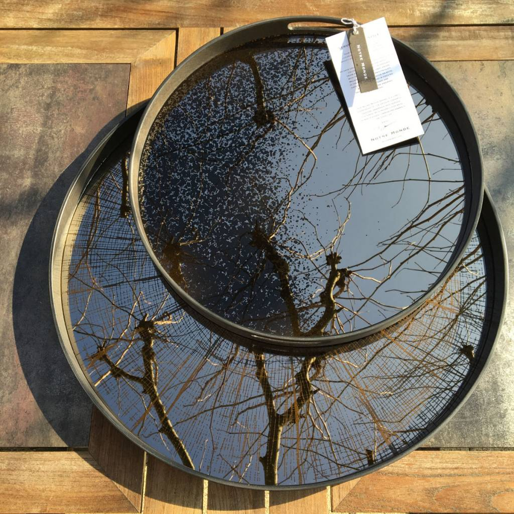 Notre monde Groot dienblad Bronze slice Mirror