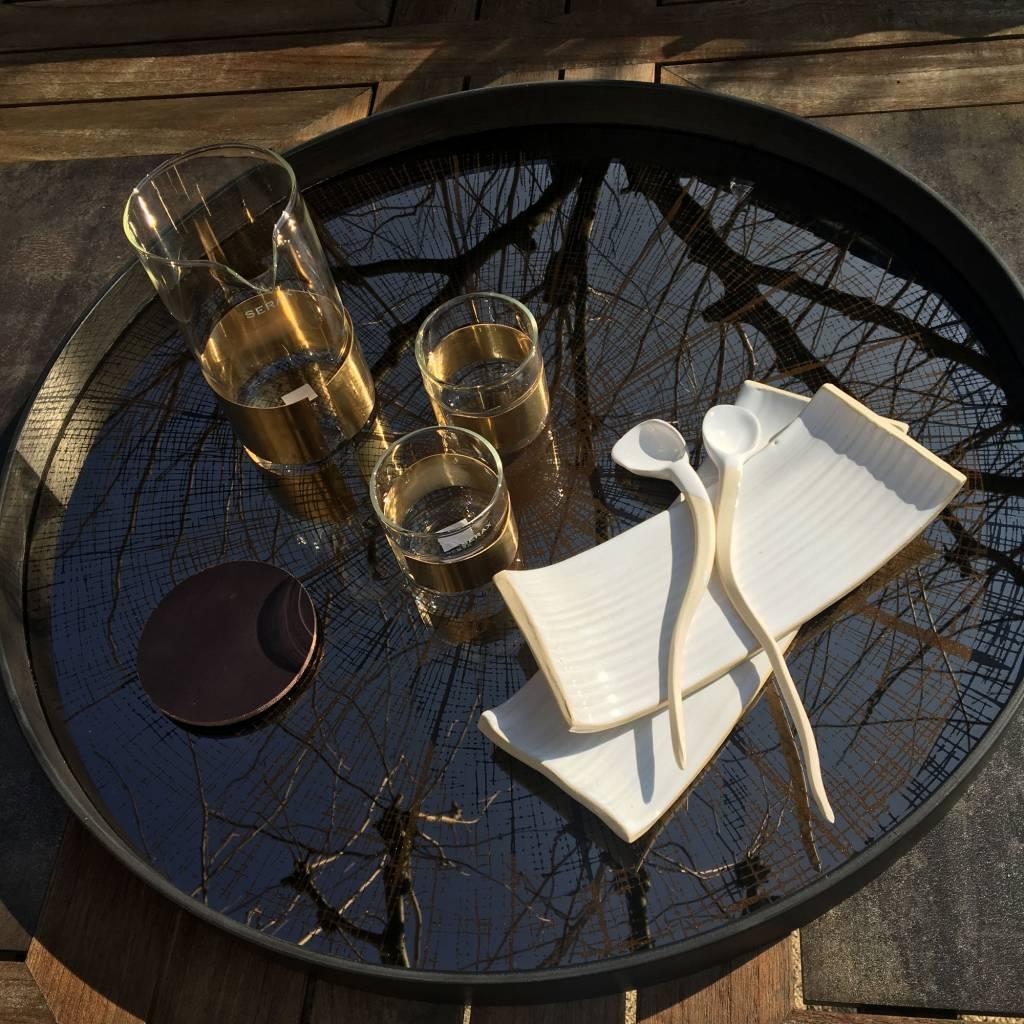 Handgemaakt dessertbord la boutique blanche - Deco voorgerecht ...
