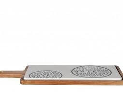 J-Line Kaasplank porselein & hout