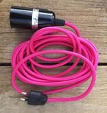 Un Esprit en Plus Flexible lamp fabric cable Pink