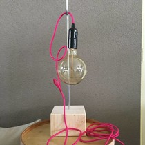 Un Esprit en Plus Flexible lamp fabric cable Denim Blue
