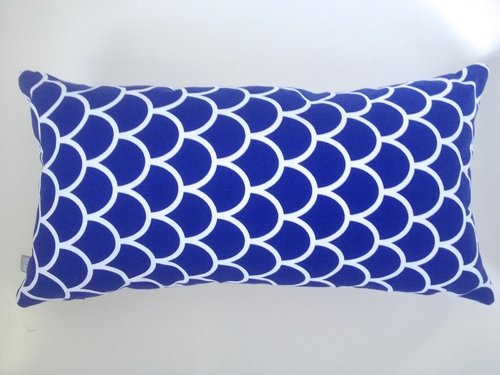 Made by Mimi Cushion print blue graphic