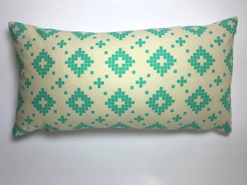 Made by Mimi Cushion print green