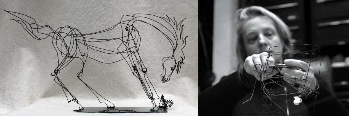 Anna Golicz en creatie paard