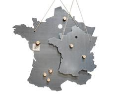 Un Esprit en Plus Metalen schrijfbord Frankrijk Large