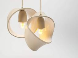Atelier Oker Hanglamp keramiek 2 ringen