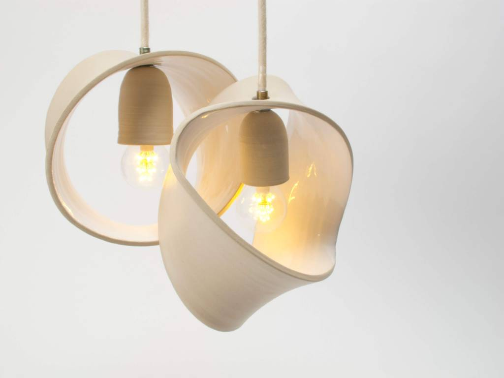 Hanglamp Slaapkamer Wit : Hanglamp keramiek wit ringen la boutique blanche