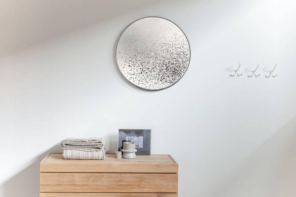 Verouderde ronde spiegel cm la boutique blanche