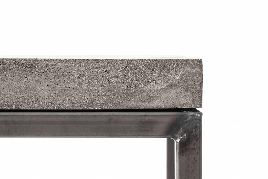 Lyon Béton Perspective Bijzettafel metaal & beton