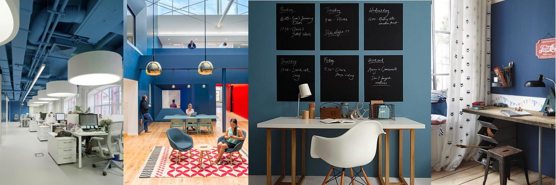 bureau blauw