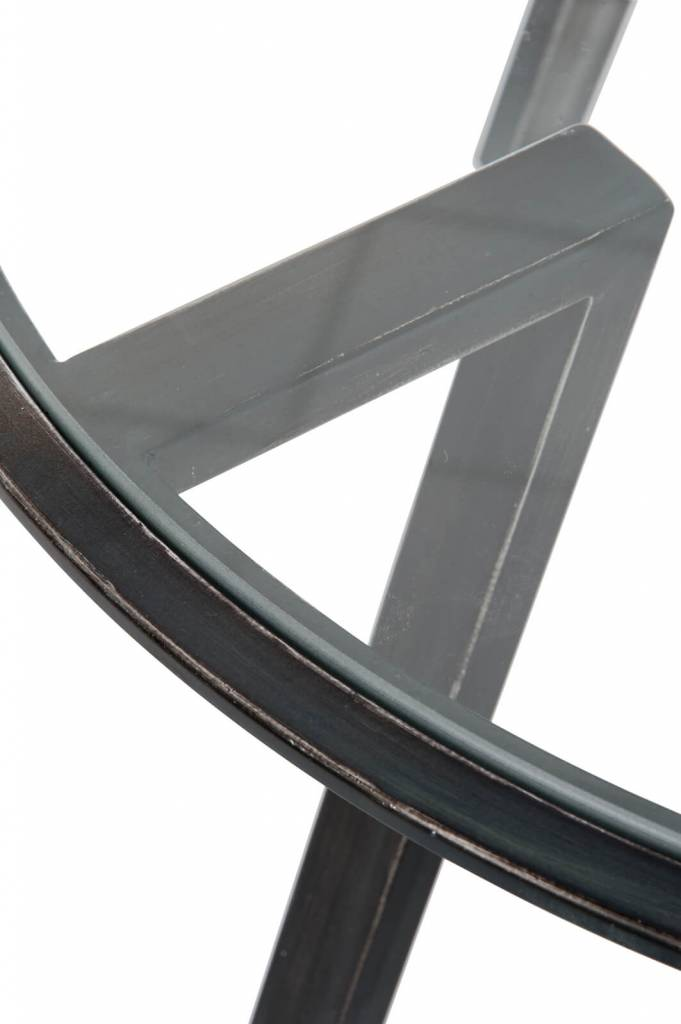 J-Line Side Table Glass - Metal black