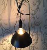 Un Esprit en Plus Lamp gekleurd snoer zwart