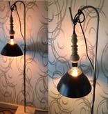 Un Esprit en Plus Lamp zwart snoer en hout