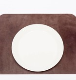 Double Stitched Lederen placemat Rechthoek Polished concrete