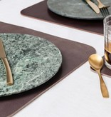 Double Stitched Leather placemat rectangular Polished concrete