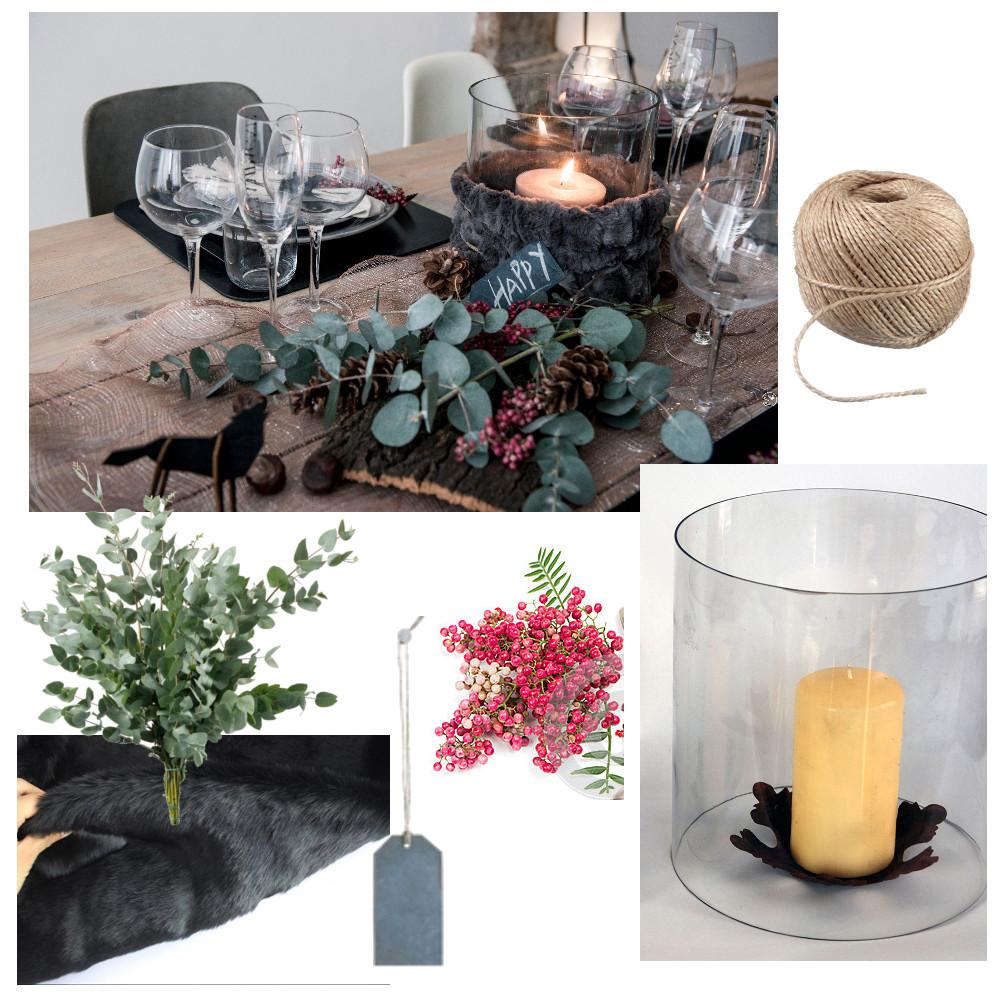 inspiratie tafelstuk natuur Kerst
