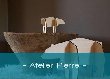 Atelier Pierre, houten dieren